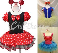 Girls Kid Minnie Mouse Mermaid Fancy Xmas Dress Up Costume Cosplay Outfit + Ears