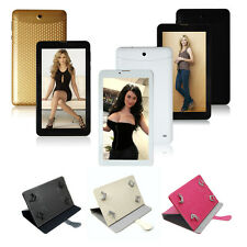 "7"" 2G GSM Phablet Tablet PC Google Android 4.2 Dual Core Cam Bluetooth GPS +Case"