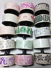 Rollagraph Wheel Stamps Various Wheel Design Patterns Fits 1 Inch Wheel - NEW