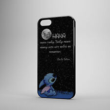 DISNEY LILO AND STITCH OHANA MEANS FAMILY QUOTE CASE COVER FOR IPHONE