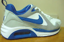 JUNIOR BOYS  NIKE AIR MAX TRAX WHITE / BLUE LEATHER TRAINERS UK SIZE 3.5 - 6