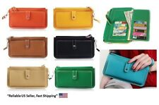 New Women Girl Fashion PU Leather Wallet Clutch Phone Case Purse With Hand Strap