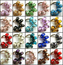 50pcs Wholesale Lampwork Murano Glass Beads Fit European Charm Bracelet NO.11