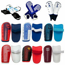 FOOTBALL SHINPADS YOUTH & BOYS TEAM SLIP ON PROTECTION SHIN PADS / GUARDS