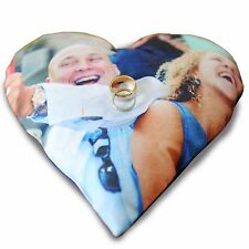 Wedding Ring Photo Pillow Cushion by Happy Snap Gifts®