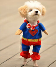 Superman Soft Suit Cosplay Clothes Outwear Pet Apparel For Small Dog Puppy Cat