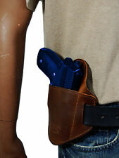 New Barsony Brown Leather Belt Slide Gun Holster Browning Colt Full Size 9mm 40