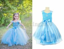 Sale Kids Clothes Girls Frozen Party Dress Sets Ball Gown Outfits for 3-10Y F56