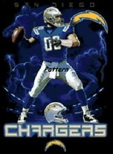 San Diego Chargers Mascots, Logo etc. Cross Stitch Pattern. Paper or PDF.