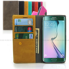 Leather wallet flip case Slim folio card book cover for iPhone 6 /Galaxy S8 / LG
