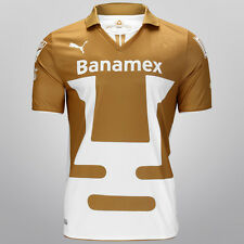 PUMA PUMAS UNAM HOME JERSEY 2013/14 MEXICO WHITE/GOLD.