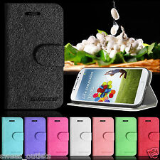 Glitter Silk Leather Flip Wallet Case Stand Cover For Samsung Galaxy S4 i9500