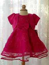 Hot Pink Infant Baby Wedding Pageant Formal Flower Girl Dress 6M 9M 12M 18M 24M