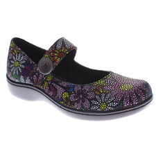 SPRING STEP Womens Professional Lavender Clogs FloralPrint Leather LAVENDER-FLRL