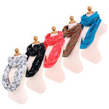 Premium Peace Sign Infinity Loop Circle Fashion Scarf - Different Colors Avail