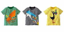 BODEN BOYS SHORT SLEEVED TOP TEE SHIRT SEASIDE SHARK-SQUID-BIRD  AGES 1-12 BNWOT