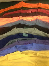 Lot of 3- Comfort Colors 100% Cotton T-Shirts  Long Sleeve Choose Size,  NEW