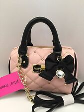 "Betsey Johnson Messenger Bag Mini ""Houdini"" Blush Shoulder Purse New $58"