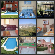 Self catering holiday villa sleeps 13 large pool TV WiFi 20 minutes from Malaga
