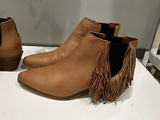 ZARA FRINGED HIGH HEELED LEATHER BOOTIES  36-41 Ref. 2108/001
