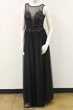 Beaded Tulle W/Deep Front V Neck Prom/Evening/Cocktail/Formal Dress