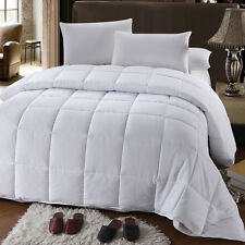 Goose Down Alternative Luxury Baffle-Box Comforter, All Seasons, Hypo Allergenic
