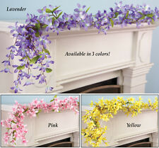 Collections Etc Spring Floral Forsythia Garland