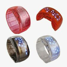 Unisex Sport LED Watch Wrist Bracelet Digital Quartz Jelly Fashion 5 Candy Color