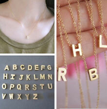 Charm Women Gift Gold plated Letter name Initial chain Pendant Stylish Necklaces