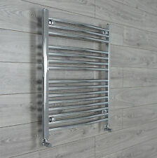 700mm Wide 800mm high Curved Chrome Bathroom Heated Towel Rail Radiators Rad *
