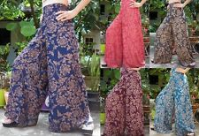 Vintage Wide Leg Palazzo Bohemian Gypsy Hippie Boho Summer Beach Pants Trousers