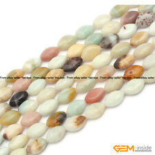 Natural Colorful Amazonite Stone Marquise Beads For Jewelry Making Strand 15""