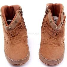 Cute Infant Baby Boy Girls High Boots Suede Soft Sole Toddler Shoes Booties B33