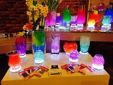 10g WATER BEADS GEL BALLS WEDDING CENTREPIECE VASE FILLER 12 COLOURS AVAILABLE