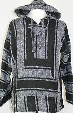Medium Hoodie Baja Hippie Surfer Mexican Poncho Sweater Assorted Colors
