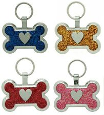 Pet Tag Custom Engraving Bone Heart Dog Tags Id Tag Charm engraved id charm