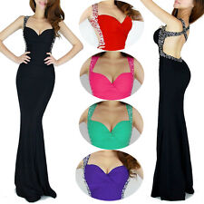 ON SALE Mermaid SLIM Long Bridesmaid Prom Gown Evening Party Masquerade Dresses