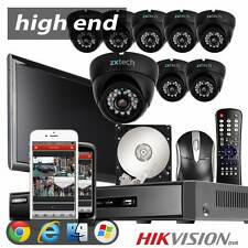 8 650TVL SONY CCD Cam HDMI 16CH Hikvision DVR Professional H264 4TB CCTV System