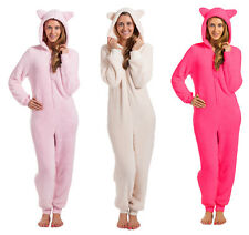 ONEZEE Ladies Womens Onesie Snuggle Fleece All-In-One SuperSoft Warm Hooded