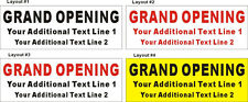 3ftX8ft Custom Printed GRAND OPENING Banner Sign with Your Additional Text