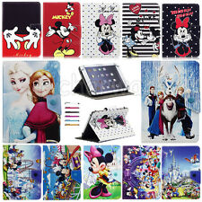"Universal Lovely Mickey Minnie Leather Case Cover For 9""~10.1"" Inch Tablet PC"