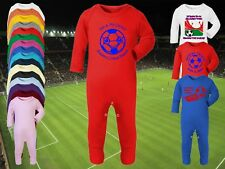 CRYSTAL PALACE Football Baby Romper Sleep Suit Personalised Cute Gift - Any team