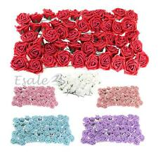 Set 50Pcs Flores Artificiales Ramo Decoración para Boda Fiesta Party
