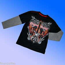 ex. BHS Guitar Rock Skater Long Sleeve Top Age 7-16 Years * 1st Class Fast SALE