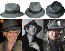 Keith Richards Style Fedora Hat. Keef Rolling Stones Fashion Accessory - Grey