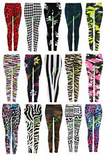 New Women Ladies Full Length Stretchy Skinny Pants Stylish Printed Leggings