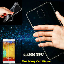 0.3MM Ultra Thin Soft TPU Crystal Clear Transparent Case Cover For Cell Phone