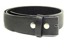 """Genuine Leather Black Belt Strap Soft 1 1/2"""" Wide Small 2XL Snap Closure Casual"""