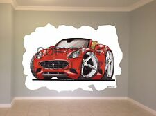 Huge Koolart Cartoon Ferrari California Wall Sticker Poster Mural 2573