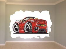 Huge Koolart Cartoon Ferrari California Wall Sticker Poster Mural 2574